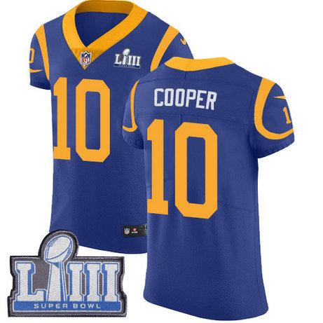 Nike Rams #10 Pharoh Cooper Royal Blue Alternate Super Bowl LIII Bound Men's Stitched NFL Vapor Untouchable Elite Jersey