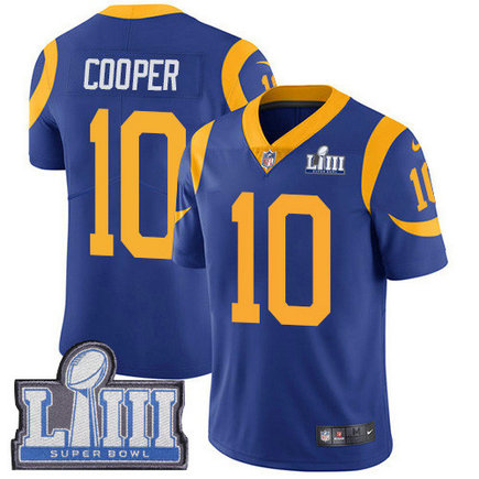 Nike Rams #10 Pharoh Cooper Royal Blue Alternate Super Bowl LIII Bound Men's Stitched NFL Vapor Untouchable Limited Jersey
