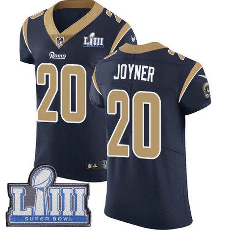 Nike Rams #20 Lamarcus Joyner Navy Blue Team Color Super Bowl LIII Bound Men's Stitched NFL Vapor Untouchable Elite Jersey