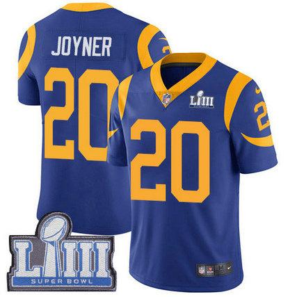 Nike Rams #20 Lamarcus Joyner Royal Blue Alternate Super Bowl LIII Bound Men's Stitched NFL Vapor Untouchable Limited Jersey