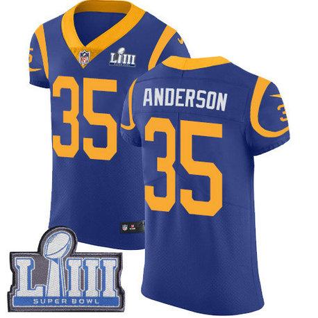 Nike Rams #35 C.J. Anderson Royal Blue Alternate Super Bowl LIII Bound Men's Stitched NFL Vapor Untouchable Elite Jersey