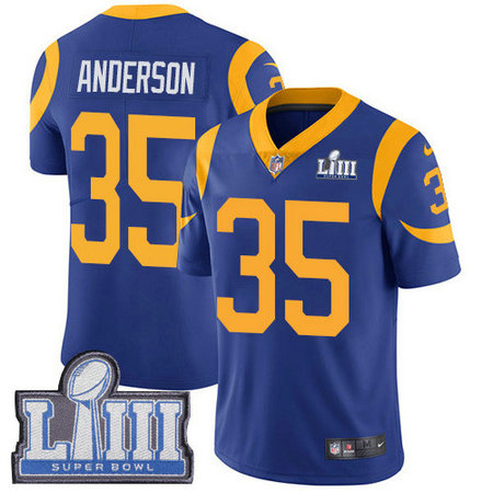 Nike Rams #35 C.J. Anderson Royal Blue Alternate Super Bowl LIII Bound Men's Stitched NFL Vapor Untouchable Limited Jersey