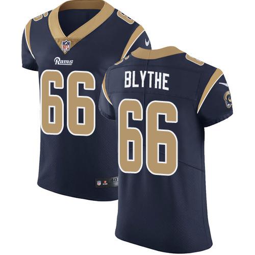 Nike Rams #66 Austin Blythe Navy Blue Team Color Men's Stitched NFL Vapor Untouchable Elite Jersey
