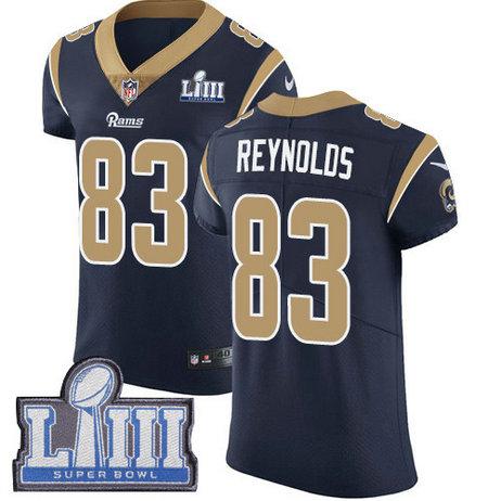 Nike Rams #83 Josh Reynolds Navy Blue Team Color Super Bowl LIII Bound Men's Stitched NFL Vapor Untouchable Elite Jersey