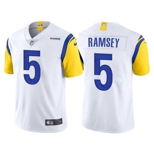 Nike Rams 5 Jalen Ramsey White Vapor Untouchable Limited Jersey