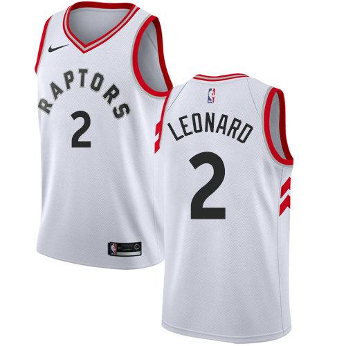 Nike Raptors #2 Kawhi Leonard White Women's NBA Swingman Association Edition Jersey