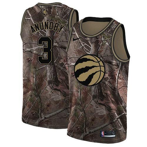 Nike Raptors #3 OG Anunoby Camo Women's NBA Swingman Realtree Collection Jersey