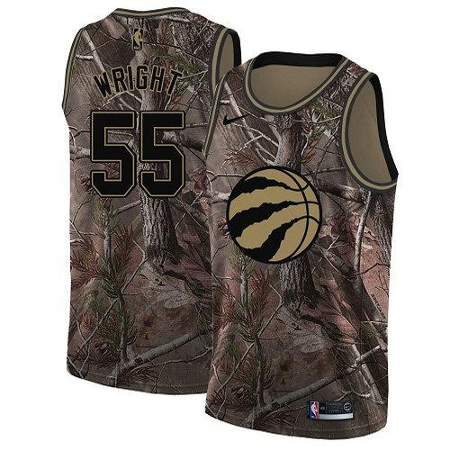 Nike Raptors #55 Delon Wright Camo Women's NBA Swingman Realtree Collection Jersey