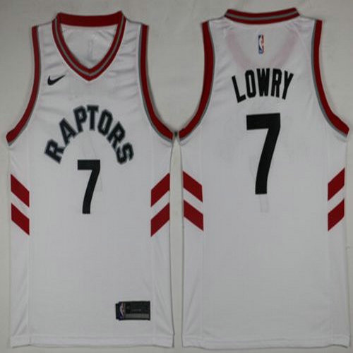 Nike Raptors #7 Kyle Lowry White Youth NBA Swingman Association Edition Jersey