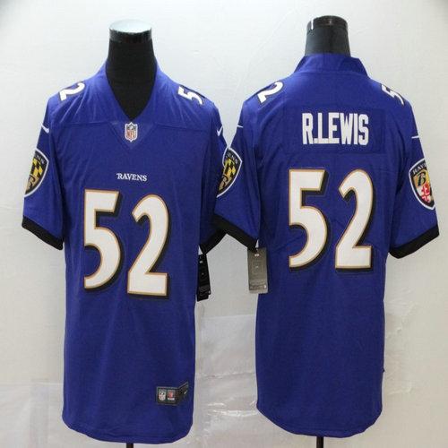 Nike Ravens 52 Ray Lewis Purple Vapor Untouchable Limited Jersey