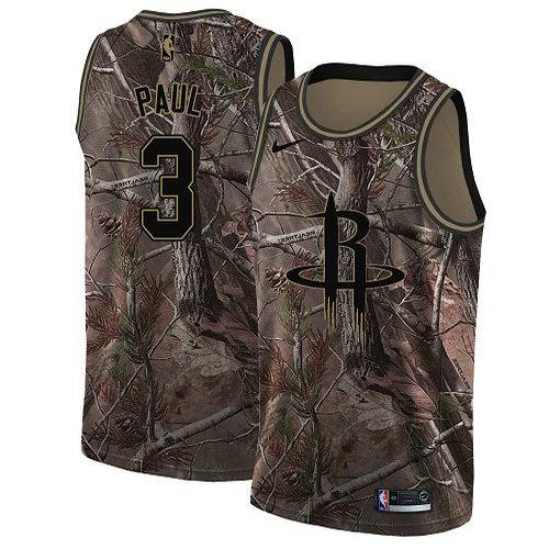 Nike Rockets #3 Chris Paul Camo Youth NBA Swingman Realtree Collection Jersey