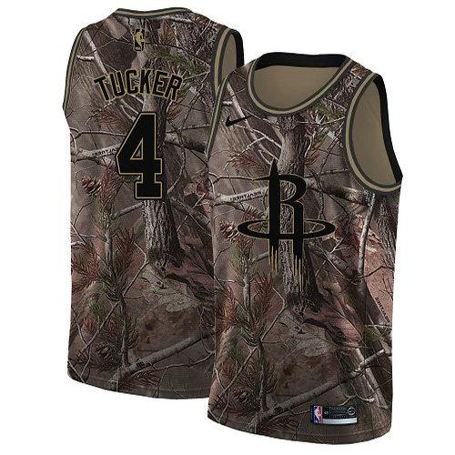 Nike Rockets #4 PJ Tucker Camo Youth NBA Swingman Realtree Collection Jersey