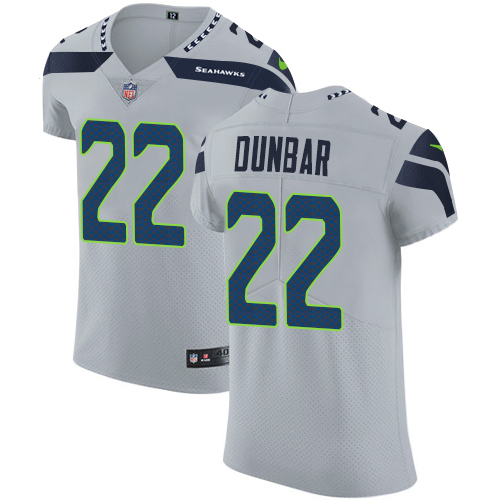 Nike Seahawks #22 Quinton Dunbar Grey Alternate Men's Stitched NFL New Elite Jersey