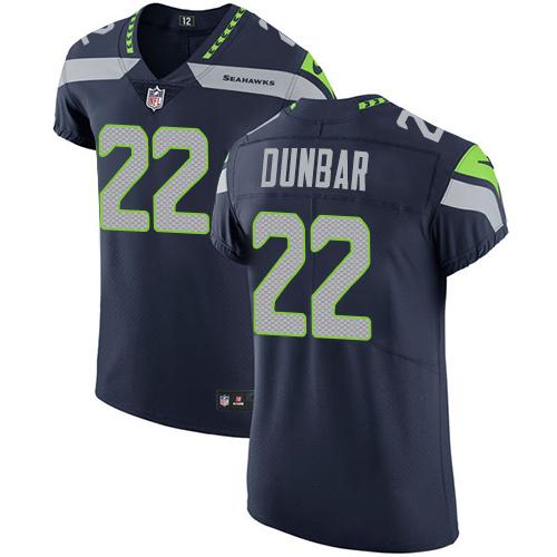 Nike Seahawks #22 Quinton Dunbar Steel Blue Team Color Men's Stitched NFL Vapor Untouchable Elite Jersey