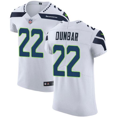 Nike Seahawks #22 Quinton Dunbar White Men's Stitched NFL New Elite Jersey