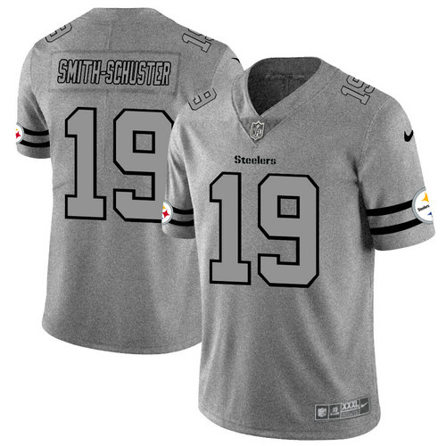 Nike Steelers 19 JuJu Smith-Schuster 2019 Gray Gridiron Gray Vapor Untouchable Limited Jersey