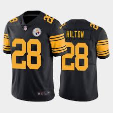 Nike Steelers 28 T.Y. Hilton Black Team Rush Vapor Untouchable Limited