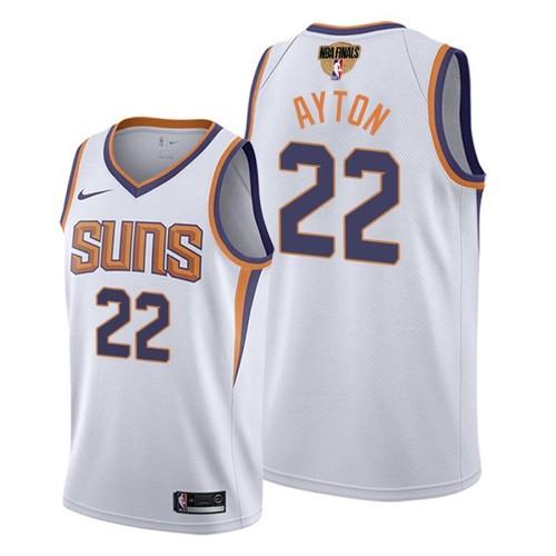 Nike Suns #22 Deandre Ayton Men's 2021 NBA Finals Bound Swingman Association Edition Jersey White