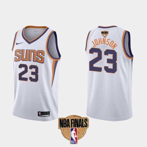 Nike Suns #23 Cameron Johnson Men's 2021 NBA Finals Bound Swingman Association Edition Jersey White