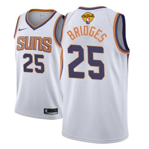 Nike Suns #25 Mikal Bridges Men's 2021 NBA Finals Bound Swingman Association Edition Jersey White