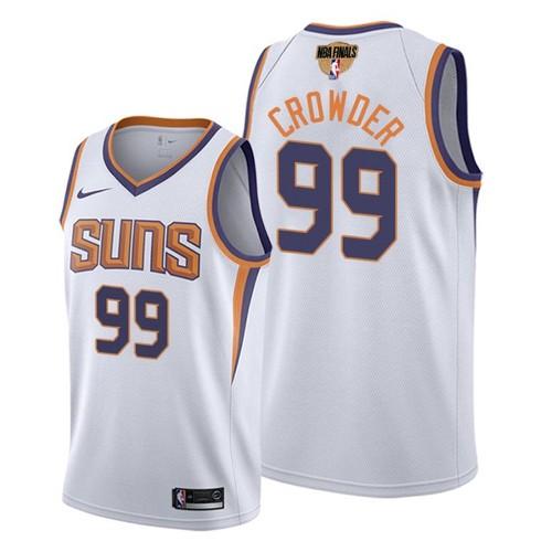 Nike Suns #99 Jae Crowder Men's 2021 NBA Finals Bound Swingman Association Edition Jersey White