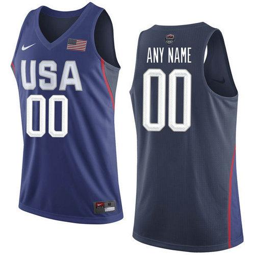 Nike Team USA 00 Custom Navy Blue 2016 Dream Team NBA Jersey