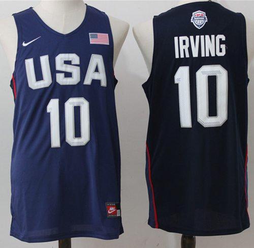 Nike Team USA 10 Kyrie Irving Navy Blue 2016 Dream Team NBA Jersey