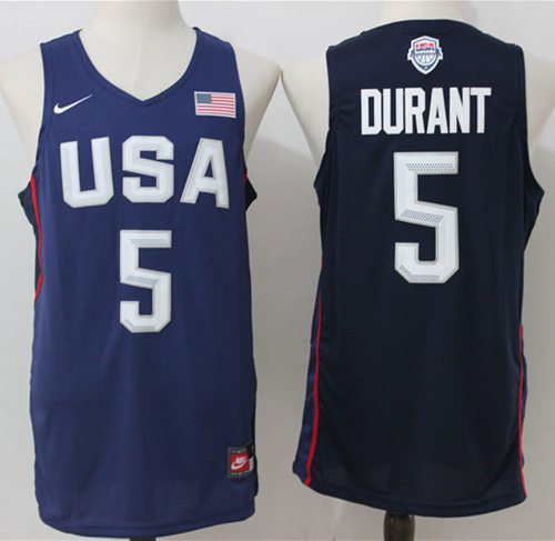 Nike Team USA 5 Kevin Durant Navy Blue 2016 Dream Team NBA Jersey