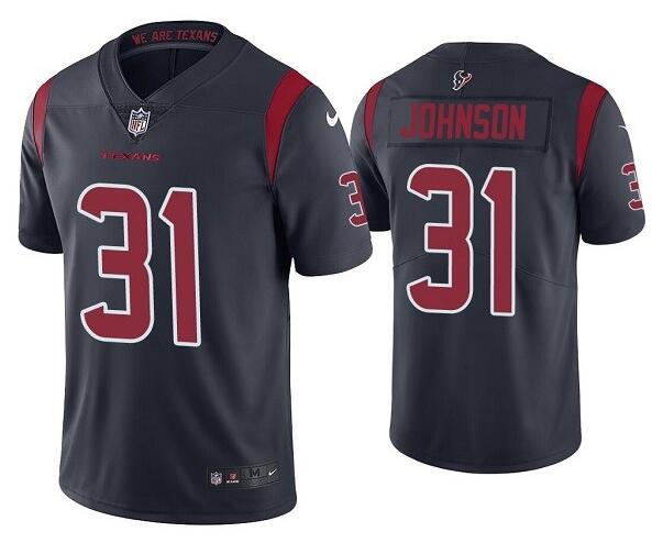 Nike Texans 31 David Johnson Navy Color Rush Limited Jersey