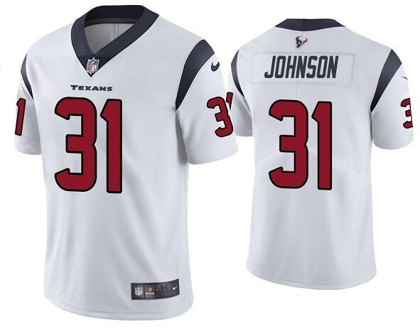 Nike Texans 31 David Johnson White Vapor Untouchable Limited Jersey