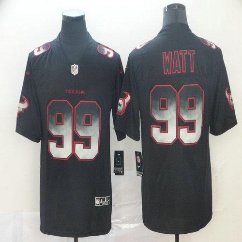 Nike Texans 99 J.J. Watt Black Arch Smoke Vapor Untouchable Limited Jersey