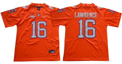 Nike Tigers #16 Trevor Lawrence Orange Limited Stitched NCAA Jersey