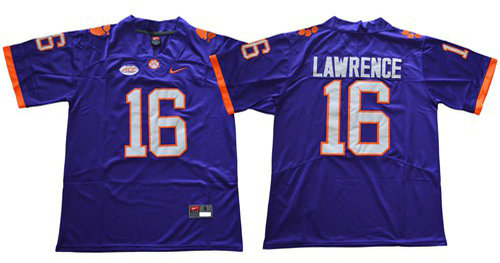 Nike Tigers #16 Trevor Lawrence Purple Limited Stitched NCAA Jersey