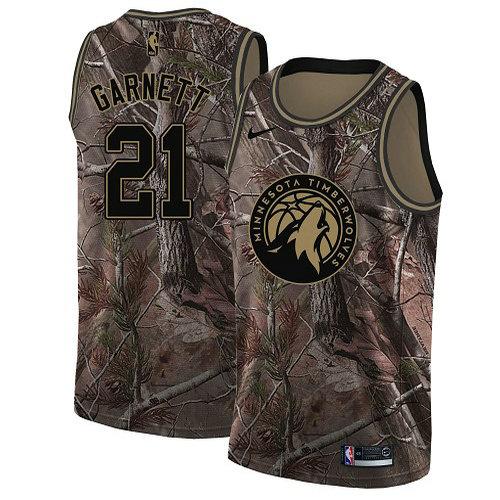 Nike Timberwolves #21 Kevin Garnett Camo Women's NBA Swingman Realtree Collection Jersey