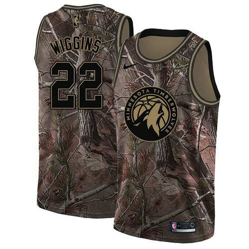 Nike Timberwolves #22 Andrew Wiggins Camo Women's NBA Swingman Realtree Collection Jersey