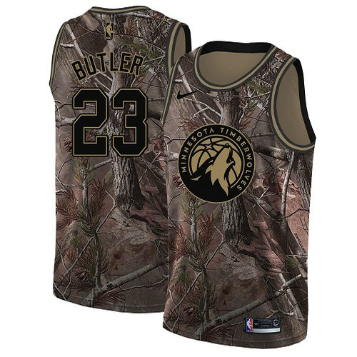 Nike Timberwolves #23 Jimmy Butler Camo Women's NBA Swingman Realtree Collection Jersey