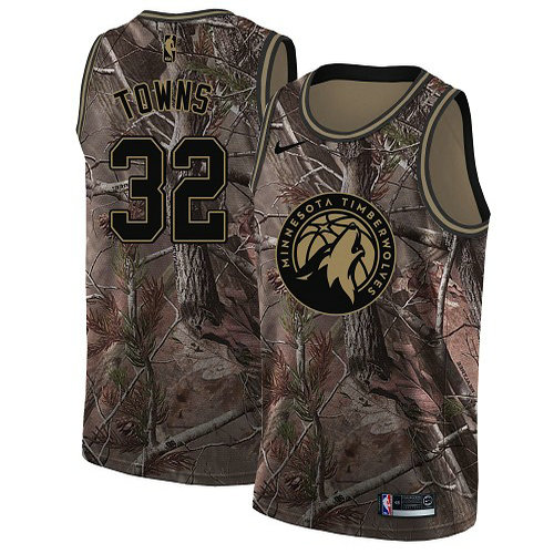 Nike Timberwolves #32 Karl Anthony Towns Camo Women's NBA Swingman Realtree Collection Jersey