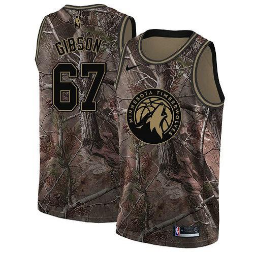 Nike Timberwolves #67 Taj Gibson Camo Women's NBA Swingman Realtree Collection Jersey