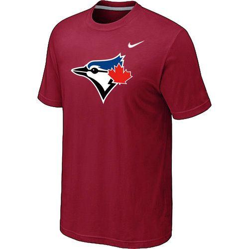 Nike Toronto Blue Jays Authentic Logo T-Shirt Red