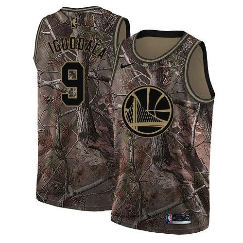 Nike Warriors #9 Andre Iguodala Camo Women's NBA Swingman Realtree Collection Jersey