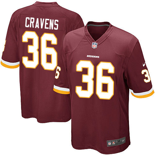 Nike Washington Redskins 36 Su-a Cravens Game Burgundy Red Team Color NFL Jersey