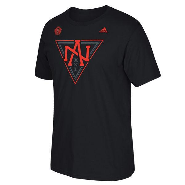 North America Hockey 2016 World Cup of Hockey Primary Logo T-Shirt - Black