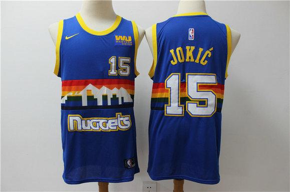 Nuggets 15 Nikola Jokic Blue Nike Swingman Jersey