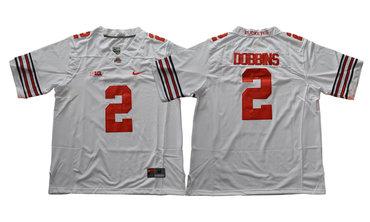 Ohio State Buckeyes 2 J.K. Dobbins White College Football Jersey