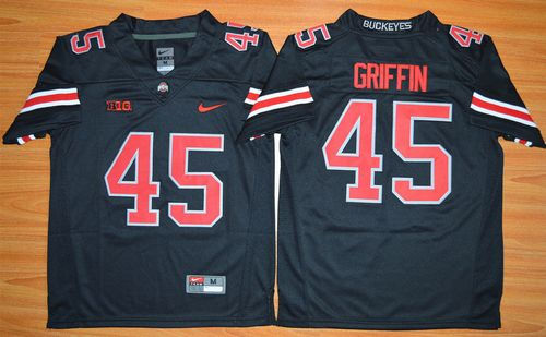 Ohio State Buckeyes 45 Archie Griffin Black(Red No.) Limited Kid NCAA Jersey