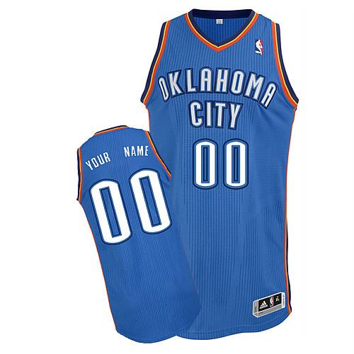 Oklahoma City Thunder Personalized custom Blue Jersey (S-3XL)