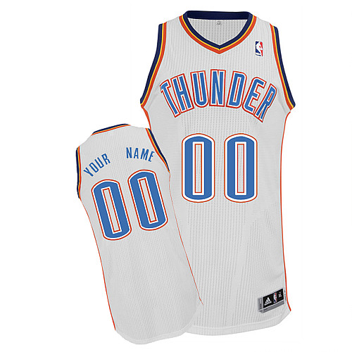 Oklahoma City Thunder Personalized custom White Jersey (S-3XL)