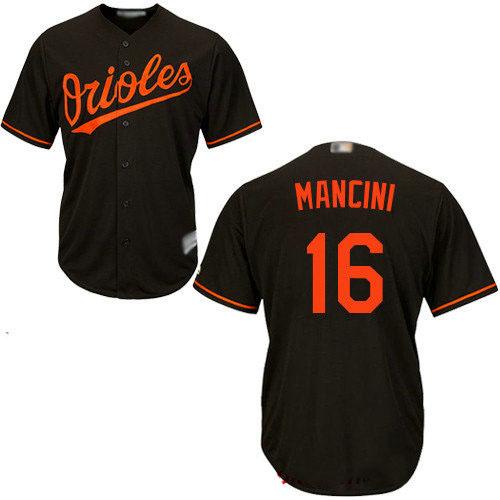 Orioles #16 Trey Mancini Black New Cool Base Stitched Baseball Jersey