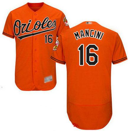 Orioles #16 Trey Mancini Orange Flexbase Authentic Collection Stitched Baseball Jersey