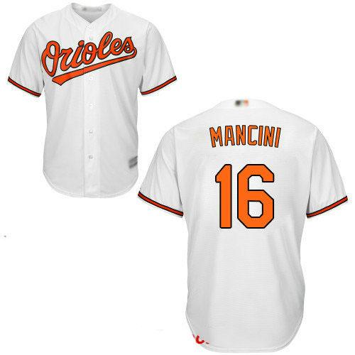 Orioles #16 Trey Mancini White New Cool Base Stitched Baseball Jersey